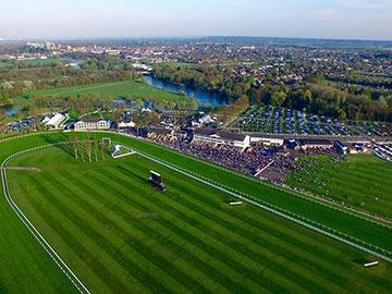 An aerial view of Royal Windsor Racecourse