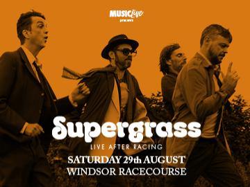 Supergrass live after racing at Royal Windsor Racecourse on 29th August.