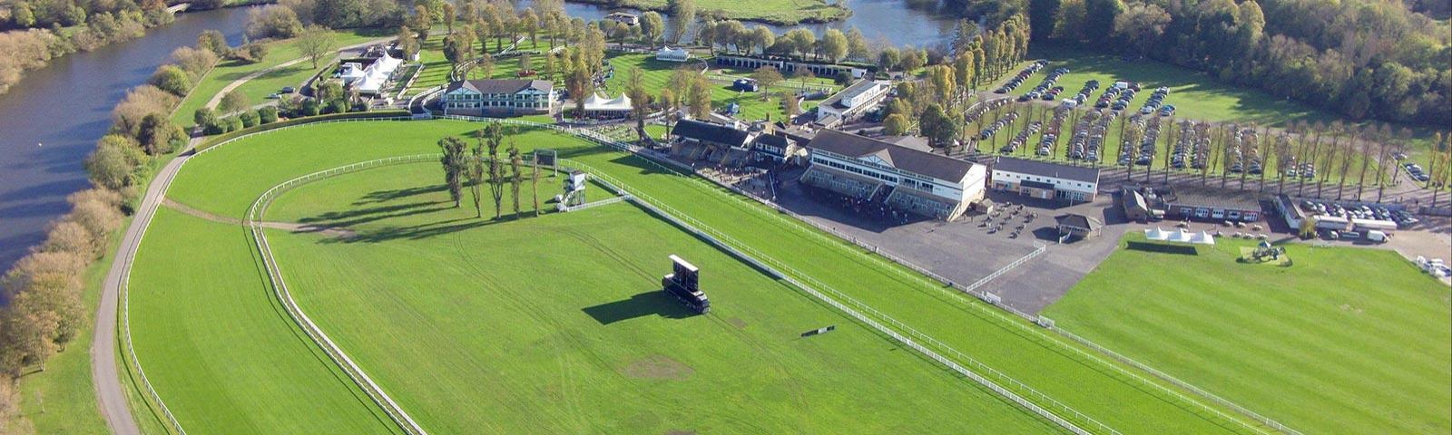 Aerial photo of the Royal Windsor Racecourse.